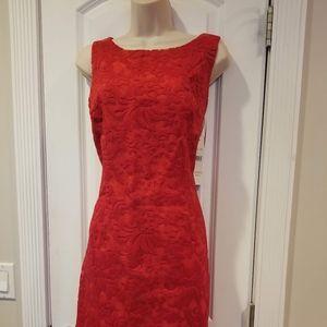 Chetta B Sleeveless Red Lace Dress NWT Size12